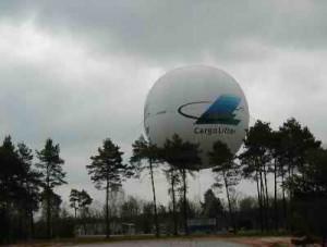 Der Fesselballon mußte leider am Boden bleiben...