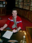 Andreas und Stefan am Schreibtisch ihrer Träume...