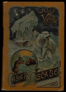 Verlag Meidinger, Cäsar Cascabel, Buchdeckel der 1. Auflage (1891) - ockerfarbener Einband.