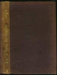 """Hartleben """"Collection"""" in einfachem braunen Leineneinband, nur im Buchrücken Goldprägung, hier Die Eisphinx"""